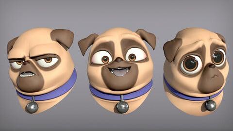 Cartoon character pug