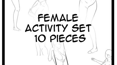Female activity 10 pieces - FREE