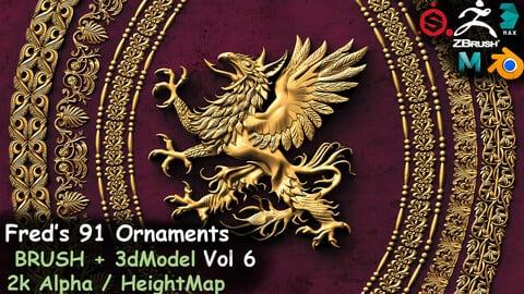Fred's 91 Ornaments IMM + 3DModels+ KitBash Vol 6