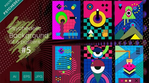 Psychedelic abstract backgrounds #5