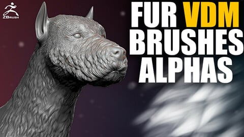 Fur VDM Brush and Alphas for ZBrush