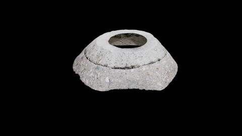 Round Concrete Block - Photoscan
