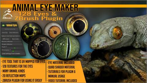 Animal Eye Maker: 128 Eyes and ZBrush Plugin