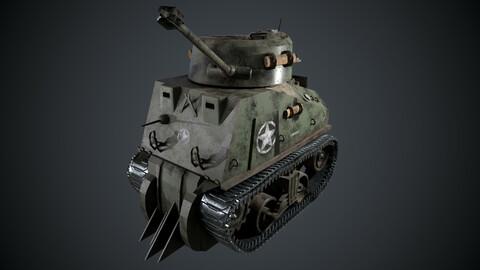 Sherman Tank Mini 3D