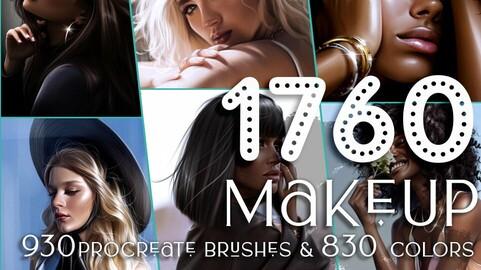Procreate Brushes: 1760+ Makeup Brushes for procreate, face brushes, procreate, procreate brushes, procreate brush, makeup brushes