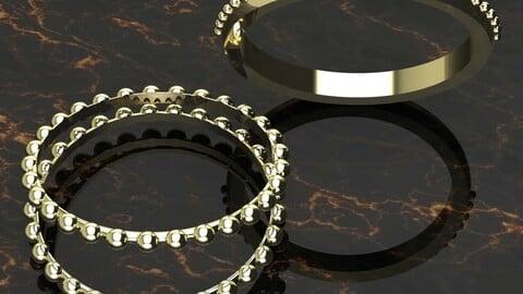 Beaded Ball Gold Ring