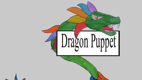 2D Dragon Puppet