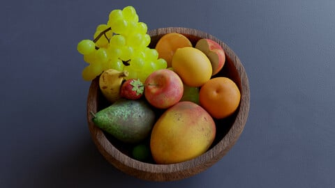 Fruits Low Poly Pack