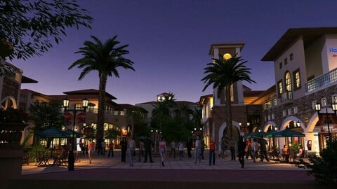Leisure Commercial Street Night Scene 01
