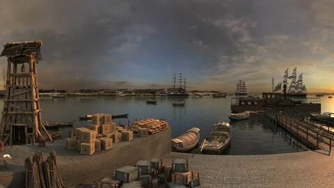 China Qing Dynasty - Wharf - Port Trade 03