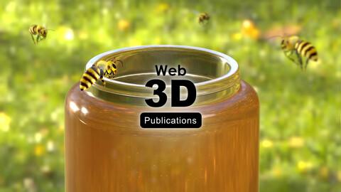 Free 3D series, Honey Bee (Blender3D scene).