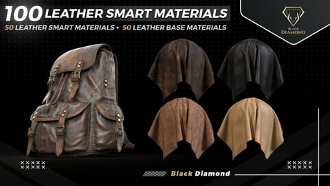 100 Leather Smart Materials with high details