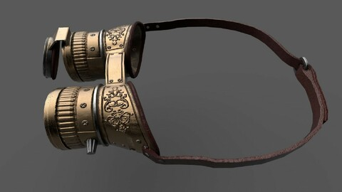 Historical Traveler Points PBR low-poly game ready  3D model