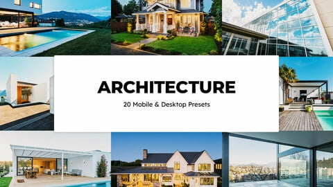 20 Architecture LUTs and Lightroom Presets