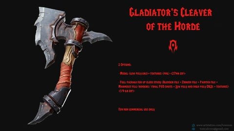 [Free] Gladiator's Cleaver of the Horde