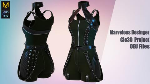 Fairy fashion /Marvelous Desinger/Clo3D Project+OBJ File