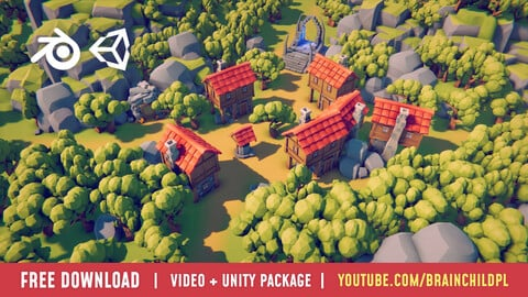 www.brainchild.pl | Simple Lowpoly RTS assets - Unity Project File & Full Process Video (Youtube link) #WIP
