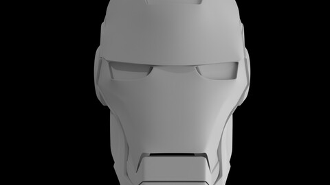 Iron Man Helmet 3D Model and 3D printing