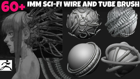 60+ IMM SCI-FI WIRE AND TUBE BRUSH