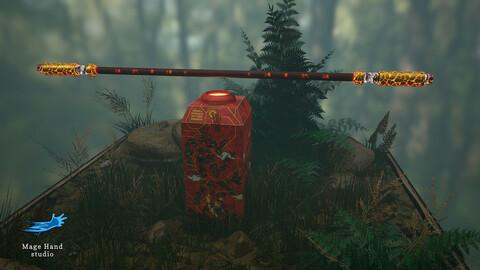 Monkey King-Sun Wukong Bo and Weapon Rack