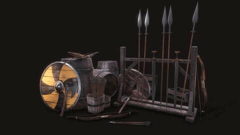 Medieval Props (Snowed Inn) - UE4