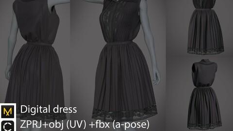 Digital dress / marvelous designer / clo3d