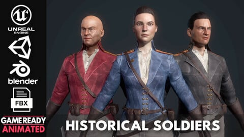 Fictional Historical Soldiers - Game Ready