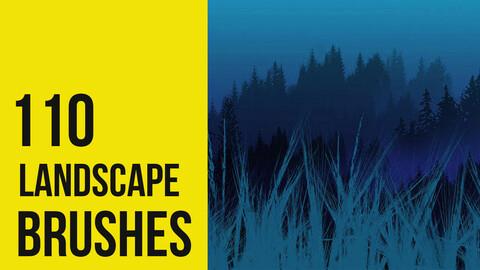 Landscape Brushes for Photoshop