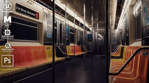 Creating a metro train interior in Unreal Engine 5
