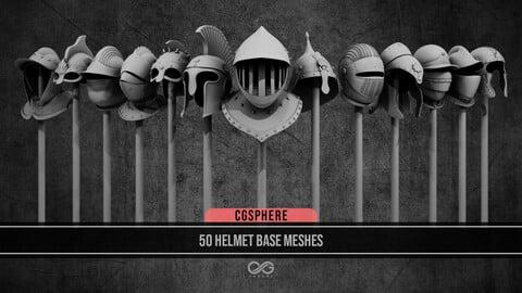 50 Helmet Base Meshes