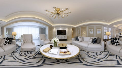 c neo-classical style living room dining room 23