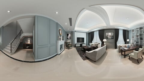 c neo-classical style living room dining room 27