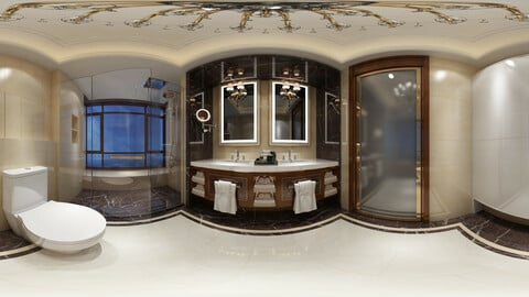 mic neo-classical style bathroom toilet space 03