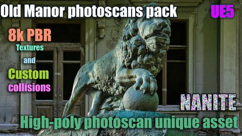 Old Manor photoscans pack 8k PBR