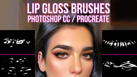 Lip Gloss Brushes for Photoshop