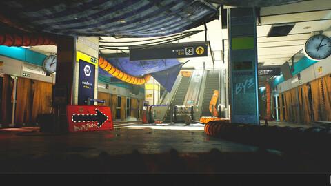 The Blue Metro 2029 ( Post Apocalyptic Metro / Subway Environment )