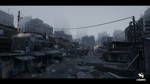 Future Slums Abandoned / Post-Apocalyptic District