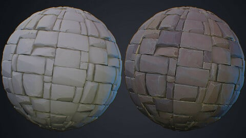 Stylized Stone Floor Material