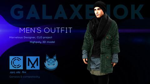 Men's outfit. Avatar genesis 8 Male. Marvelous Designer, Clo3d project. 4K PBR Textures. .OBJ.FBX files