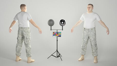 Man in camo pants ready for animation 330
