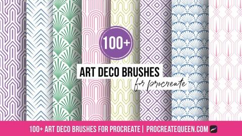 Art deco brushes for procreate