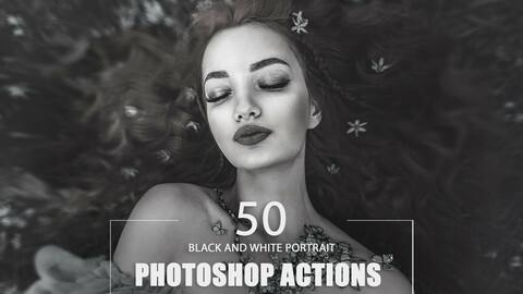 50 Black and White Portrait Photoshop Actions