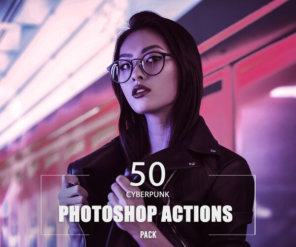 ArtStation - 50 Cyberpunk Photoshop Actions | Resources
