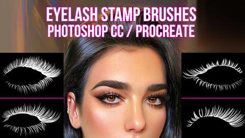 Eyelashes Brushes for Photoshop