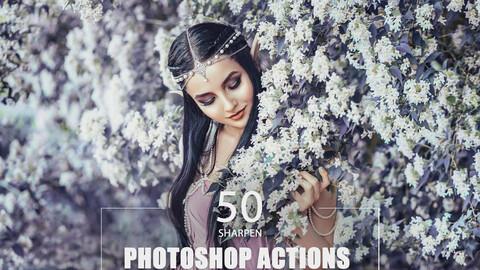 50 Sharpen Photoshop Actions