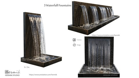 Waterfall Fountains cascade