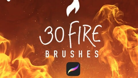 30 Fire brushes for Procreate!