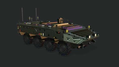 Armored Vehicle SCI FI GTK Wolf APC