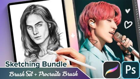 Procreate Brush + PS Sketch Brushes Bundle