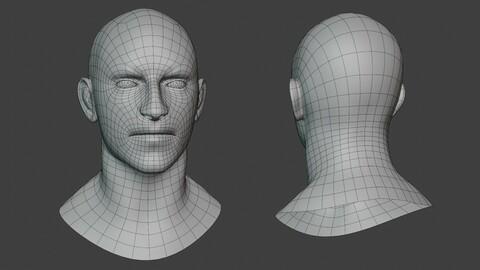 Male Head Base V4